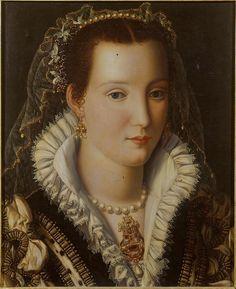 Retrato de dama, Alessandro Allori, 1570, colección particular (imagen obtenida aquí)