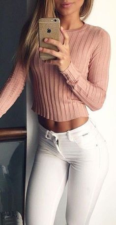 #summer #outfits / pink sweater' Supernatural Style