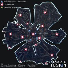 Atlantis city plan