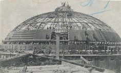 De bouw van de Koepel in volle gang 1901