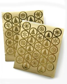 e5e3a6d079ae Gold Foil Holiday Envelope Seals - 50 Count. Designer Papers