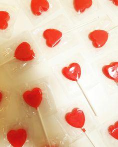 Valentines Day lollipops. www.theboutiquebox.com.au