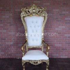 Absolom Roche Ornee Chair - Gold/White