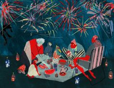 Mouni feddag | New Years Eve / picnic with fireworks