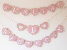 Babys 1. Geburtstag Partei personalisierte von KatzCornerBoutique