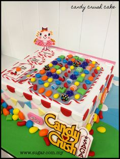 Candy Crush Cake - by weennee @ CakesDecor.com - cake decorating website