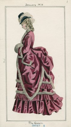 Casey Fashion Plates Detail | Los Angeles Public Library The Queen Date:  Wednesday, January 1, 1873