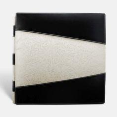 Álbum de fotos en piel de Ubrique motivos negro y bambú.  PielFort.