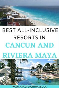 Planning a beach vacation in Mexico? Be sure to check our guide to the Best All-Inclusive Resorts in Cancun Riviera-Maya. They're the perfect combination of luxury suites, excellent food, dreamy swimming pools and fun for your beach vacation #Mexico #Cancun Travel Ideas, Travel Inspiration, Travel Tips, Beautiful Places To Visit, Amazing Places, Canada Travel, Travel Usa, Central America, North America