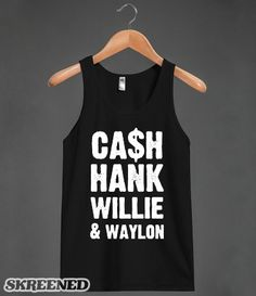Country Outlaws | Represent the country outlaws with this distressed tank. Johnny cash would be stoked to see people rocking this design. #Skreened