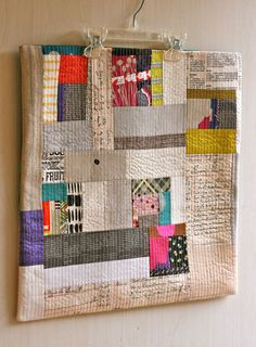 One Shabby chick: pillow swap.  Low volume parts with brights