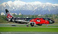 Air Canada, Airbus A320-211, Vancouver - International, Canada - British Columbia, November 1996, C-FDSN / 206 (cn 126) Toronto Raptors' c/s. By: John Yu