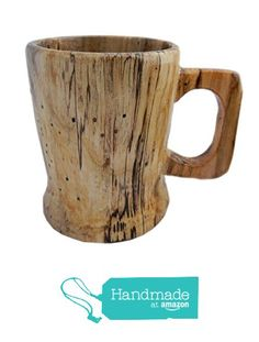 Extra Large Lathe Turned Wooden Coffee Mug, Spalted Sycamore from Kentucky Roots Wood http://www.amazon.com/dp/B01BZLLQYG/ref=hnd_sw_r_pi_dp_oZaYwb05ZENT5 #handmadeatamazon
