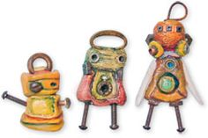 Karna Erickson's polymer clay charms and sculptures