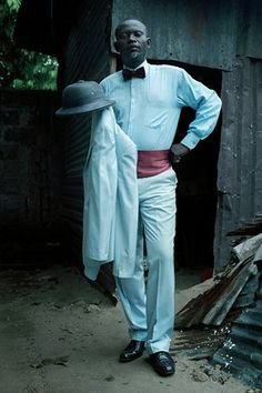 Wall Street Journal piece on sapeurs, dandies in the Congo that G up & perform in competitions
