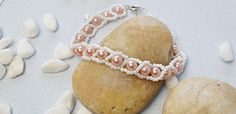 How Do You Make a Fresh Pink Pearl Beads Bracelet with White Seed Beads