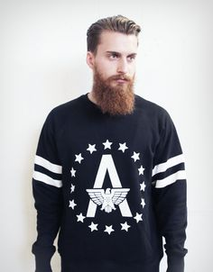 college sweater black - FANCY ALMAN