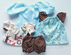 Doll Clothes Set for 12 inch 13 inch Doll  by PinkOwlPeddler