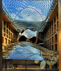 DZ Bank Building, Berlin, Germany by Frank Gehry Beautiful Architecture, Beautiful Buildings, Contemporary Architecture, Frank Gehry, Banks Building, Outdoor Living Areas, Gaudi, Cool Pictures, Louvre