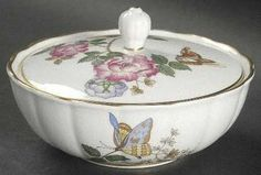"Wedgwood Charnwood (Bone) 5"" Candy Box with Lid"