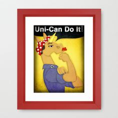Uni-Can do it! Framed Art Print