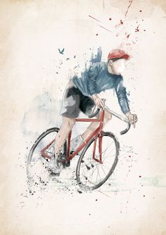 Poster | I WANT TO RIDE MY BICYCL… von Balazs Solti