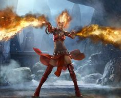 Back in March Geek Native featured the Magic: The Gathering trailer for 2014 that made its debut for PAX East. It's a firey one. The character featured in