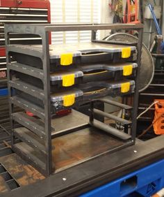 Harborfreight Storage Bin Metal shelving #tools #storage #shoplife