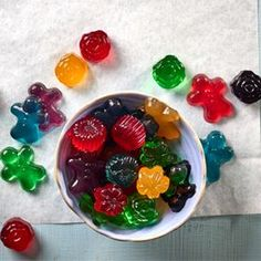 These healthy gummies are not only fun to make, but are gluten-free, fat-free and refined sugar-free too. The kids will love them.