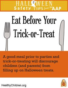halloween safety tips from the american academy of pediatrics parents should accompany young children learn more on wwwhealthychildrenorg pinterest - Halloween Tips