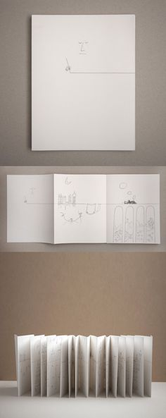 """The Line"" by Saul Steinberg.      The Line, the original a 10-meter-long drawing with 29 panels that unfold, accordion fashion, is Steinberg's manifesto about the conceptual possibilities of the line and the artist who gives them life."