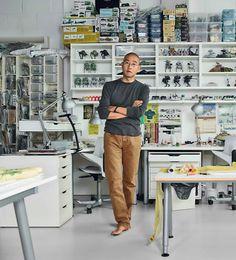 Do Ho Suh in his studio