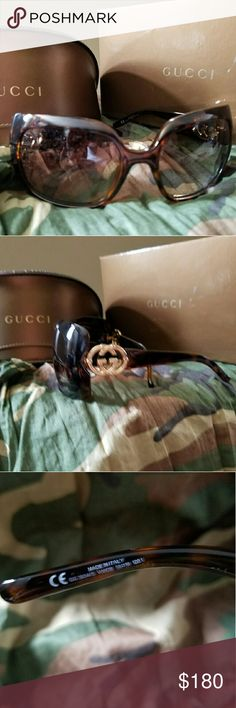 Gucci Sunglasses Super cute sunnies only worn a few times. Bought at Nordstrom. No scratches. In orginal box and case. Gucci Accessories Sunglasses