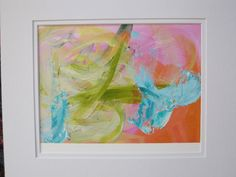 Abstract painting on paper no.128 by Kerry by KerrySteelefineart, $35.00