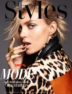 Anja Rubik by Rafael Stahelin for L'Express Styles September 2014