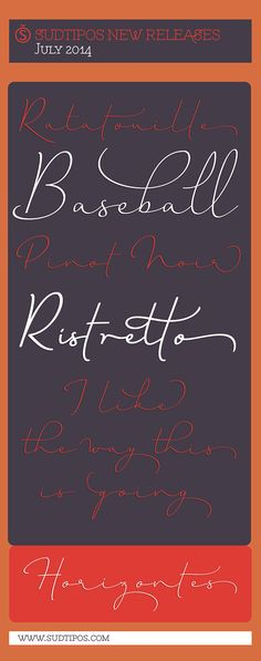 Horizontes Script.  by Ale Paul, via Behance