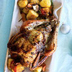 Roast+turkey+with+pear+stuffing+