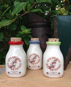 Ceramic Milk Bottle Handmade Milk Bottle by AfterthefireCeramics