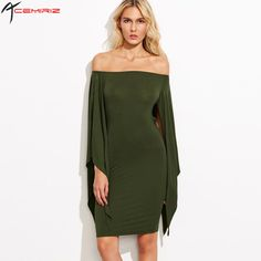Summer Women Fashion Sexy Off The Shoulder Slash Neck Lace Backless Batwing Sleeve Dress HDY-A51PK1S22