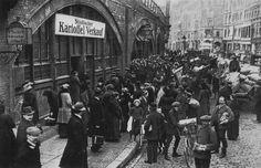 Dircksenstrasse Kartoffelverkauf 1916