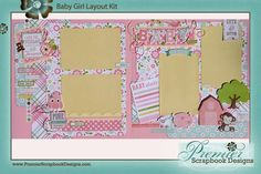 Bundle of Joy, A New Addition Girl AND Boy collections by Echo Park Paper.   Baby-Girl-Layout-Kit.