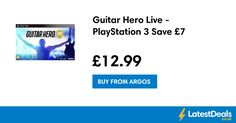 (*** http://BubbleCraze.org - Free family-friendly Android/iPhone game for all ages. ***)  Guitar Hero Live - PlayStation 3 Save £7, £12.99 at Argos