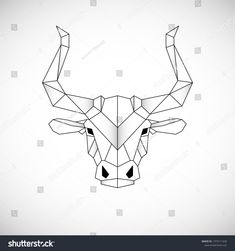 Bull Tattoos, Taurus Tattoos, Geometric Drawing, Geometric Lines, Barn Quilt Designs, Quilting Designs, Bullet Journal August, Blank Coloring Pages, Cow Art