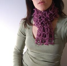 Look at the style and charm of this small crocheted scarf, it is made using one single thread shade throughout the whole project. Also the color selected for this particular project which is purple one, this is such an awesome shade that this could be carried with any other shade of your outfit. If you are scared to see the tricky stitch patterns used in this scarf then we would say that you just don't need to get worried about it at all as again we have already sorted out the issue in…
