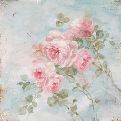 "Romantic Shabby Chic ""Harmony"" Roses by Debi Coules - Debi Coules Romantic Art"