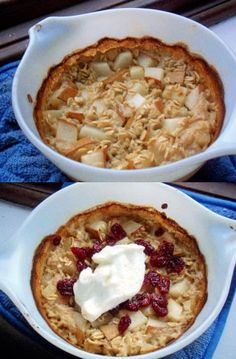 Recipe: Ginger, Pear and Cranberry Baked Oatmeal