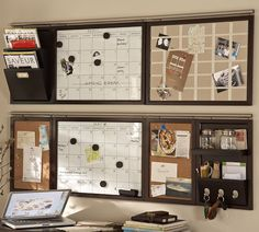 wall command centre idea...except only only one month calendar and the other a blank white board