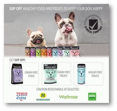 Pooch and Mutt 50p off Healthy Food and Treats to keep your dog happy