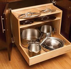pan holder kitchen pots and pans rack full size of ideas together with pot kitchen pan storage racks pot pan storage small kitchen Messy Kitchen, Big Kitchen, Smart Kitchen, Kitchen Pantry, Kitchen And Bath, Kitchen Things, Kitchen Cabinet Storage, Kitchen Drawers, Storage Cabinets