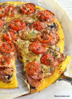 Polenta, Romanian Food, Prosciutto, Vegetable Pizza, Healthy Lifestyle, Food And Drink, Low Carb, Bread, Cooking